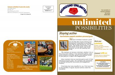 Horizons Unlimited's Fall Newsletter